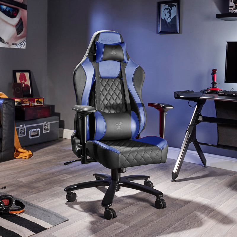 Excellent Delta X Rocker Office Pc Chair Blue Black X Rocker Uk Uwap Interior Chair Design Uwaporg