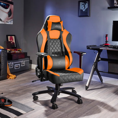 Delta X Rocker Office PC Chair (Orange/ Black)