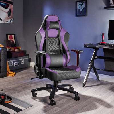 Delta X Rocker Office PC Chair (Purple/Black)