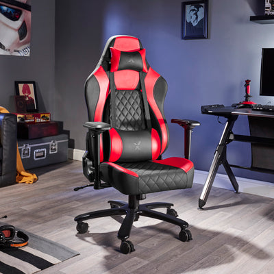 Delta X Rocker Office PC Chair (Red/Black)
