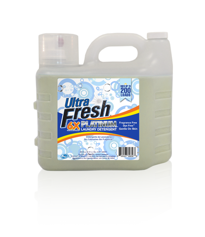 Ultra Fresh® Fragrance Free Dye Free™ 3X Fabric Softener - 200oz Jug
