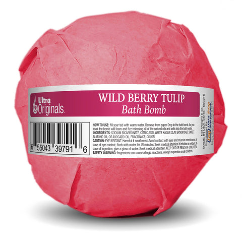 Ultra Originals™ Bath Bomb Wild Berry - Tulip - 3 Pack