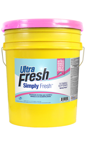 Ultra Fresh® Simply Fresh™ 1X Spring Fresh™ Fabric Softener 5 Gallons