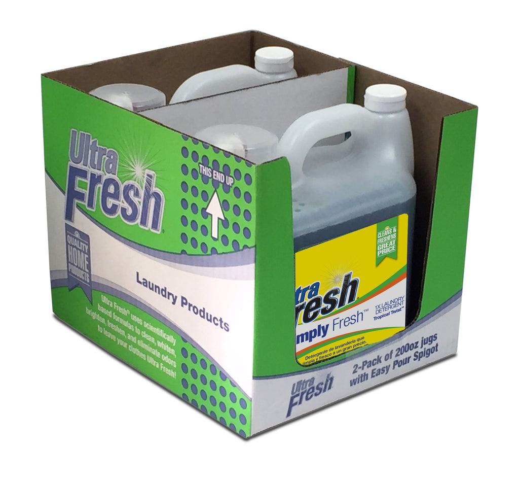 Club Pack of Simply Fresh™ Tropical Twist™ Laundry Detergent - Two 200 oz  Jugs