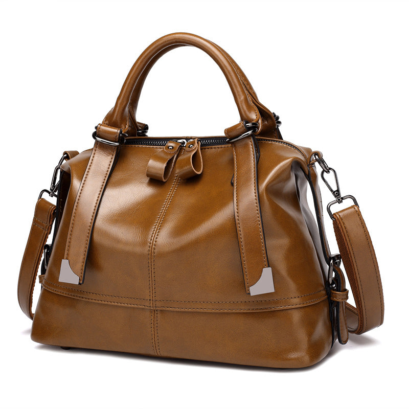 8c54469399 Women Leather Handbags Vintage Ladies Shoulder Top-Handle Bags