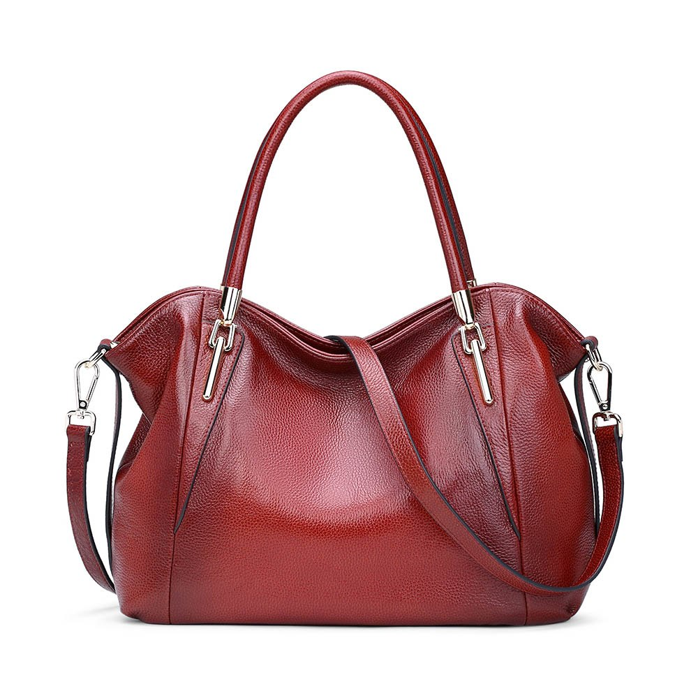 577a870b16 Genuine Leather Handbags 100% Cowhide Shoulder Bags