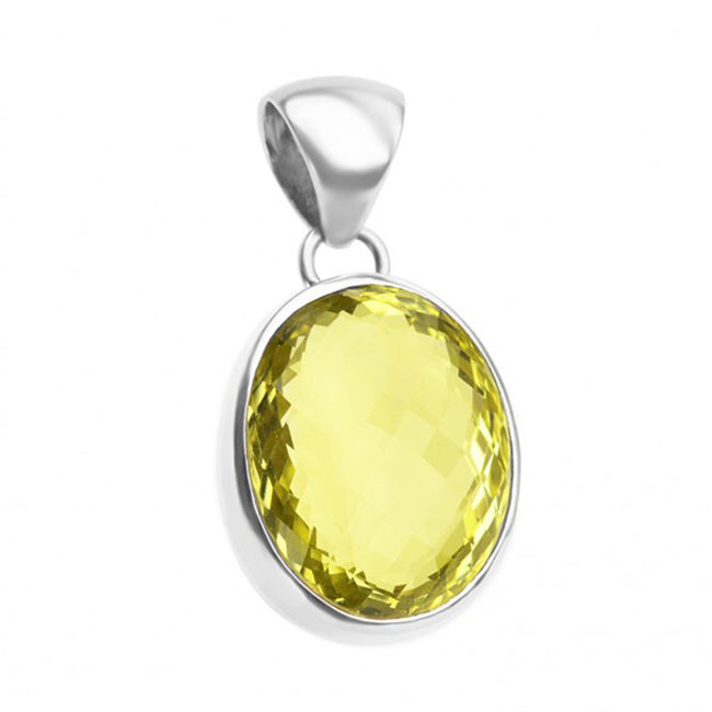 Beyond Gorgeous Lemon Topaz Sterling Silver Pendant
