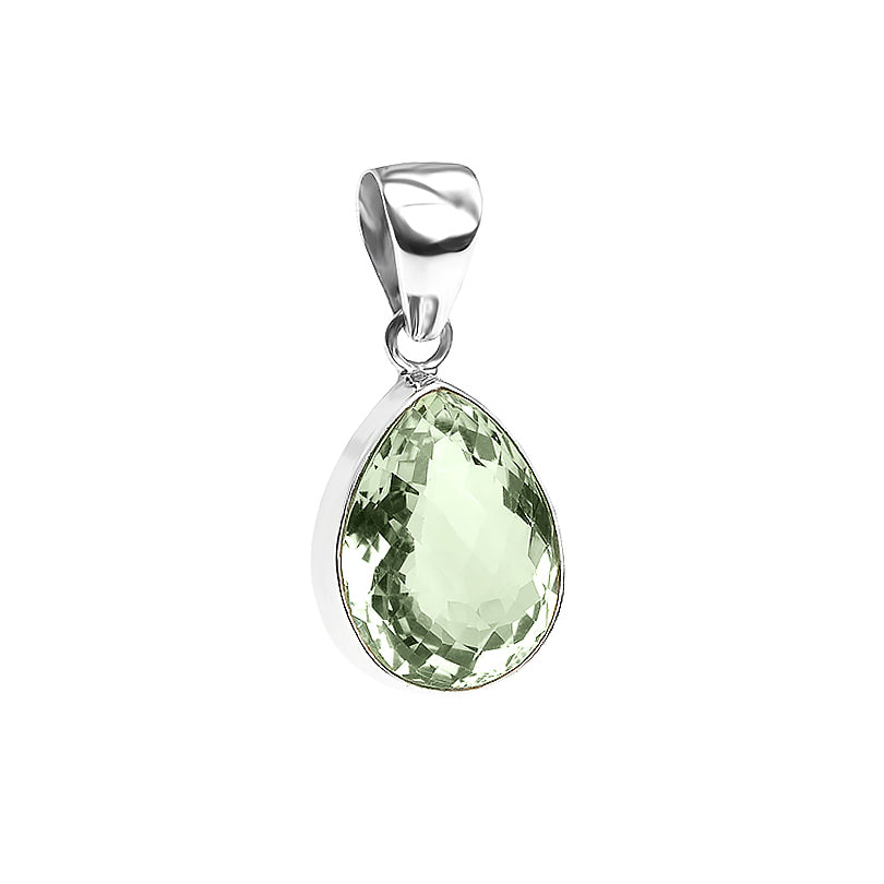 Glamorous Green Amethyst Sterling Silver Pendant