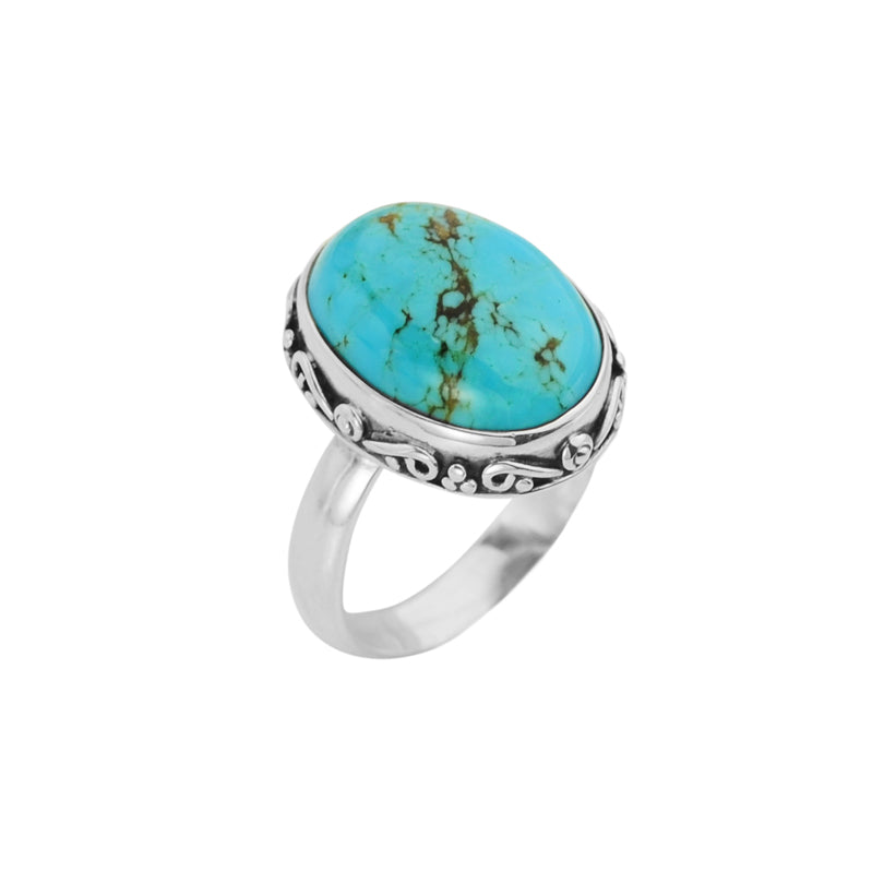 Bright Arizona Turquoise Stone Sterling Silver Ring