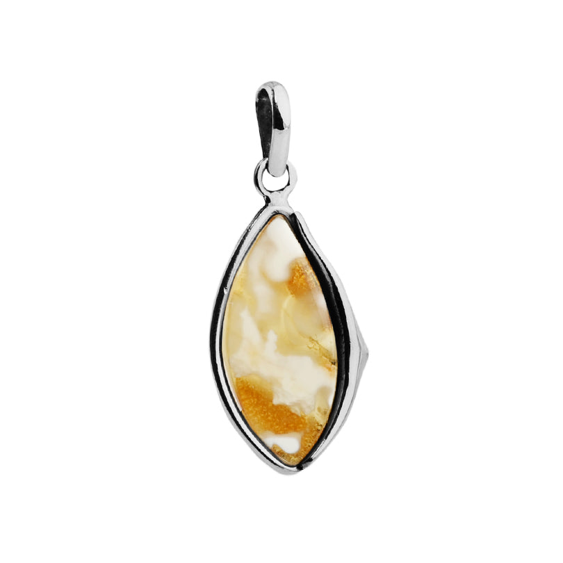 Baltic Butterscotch Amber Sterling Silver Pendant