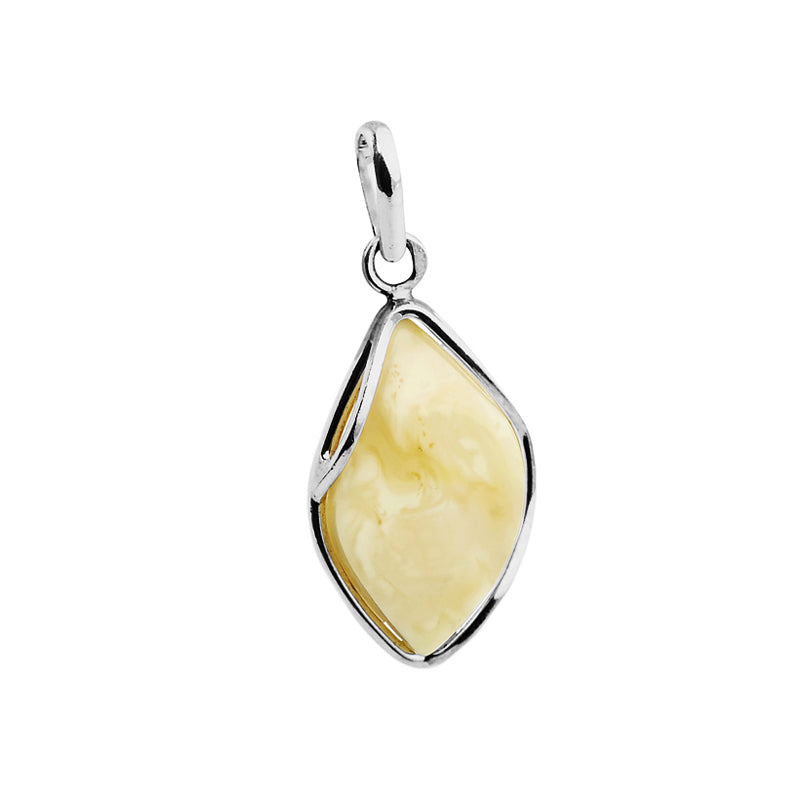 Beautiful Butterscotch Baltic Amber Sterling Silver Pendant