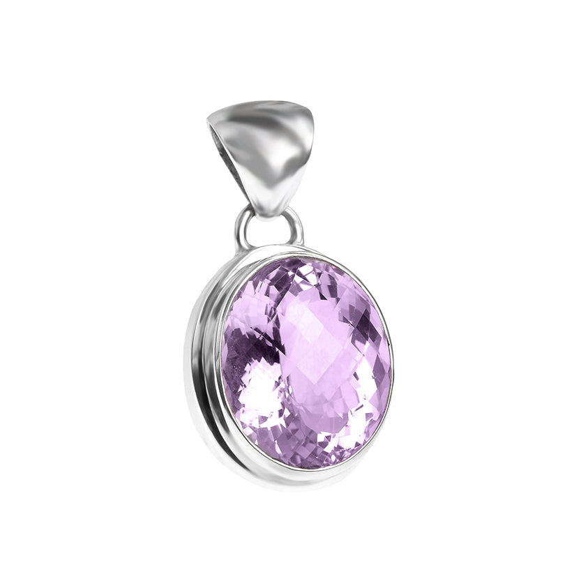 Dazzling Brazilian Cushion-Cut Lavender Amethyst Sterling Silver Statement Pendant