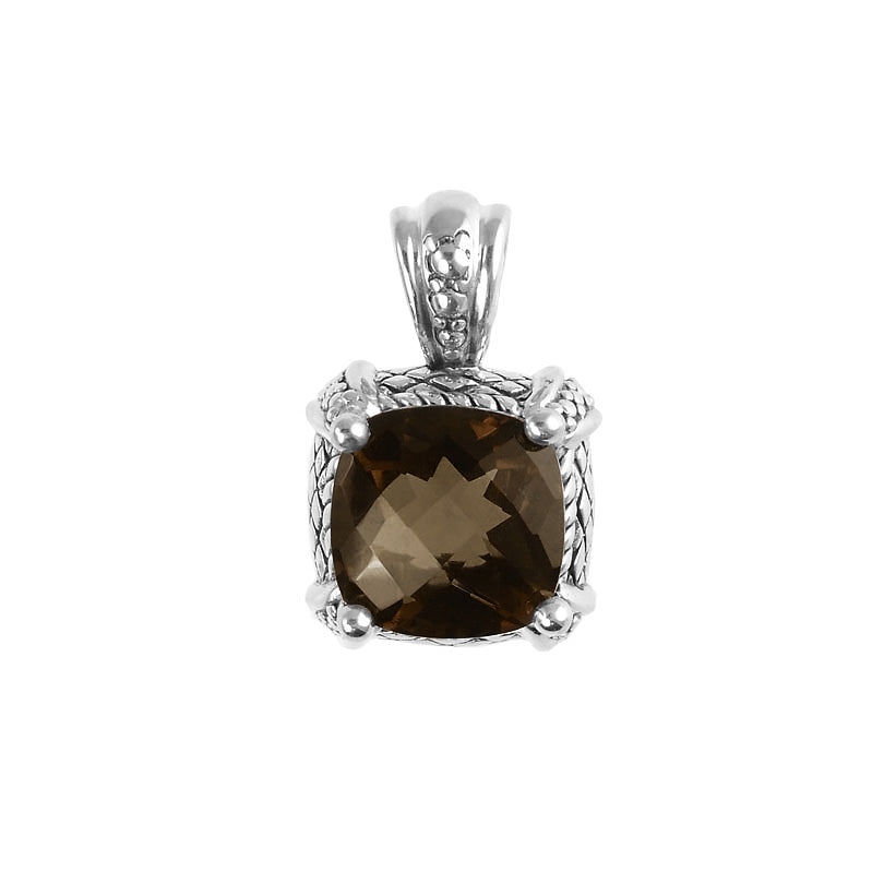 Stunning Smoky Quartz Filigree Design Sterling Silver Pendant