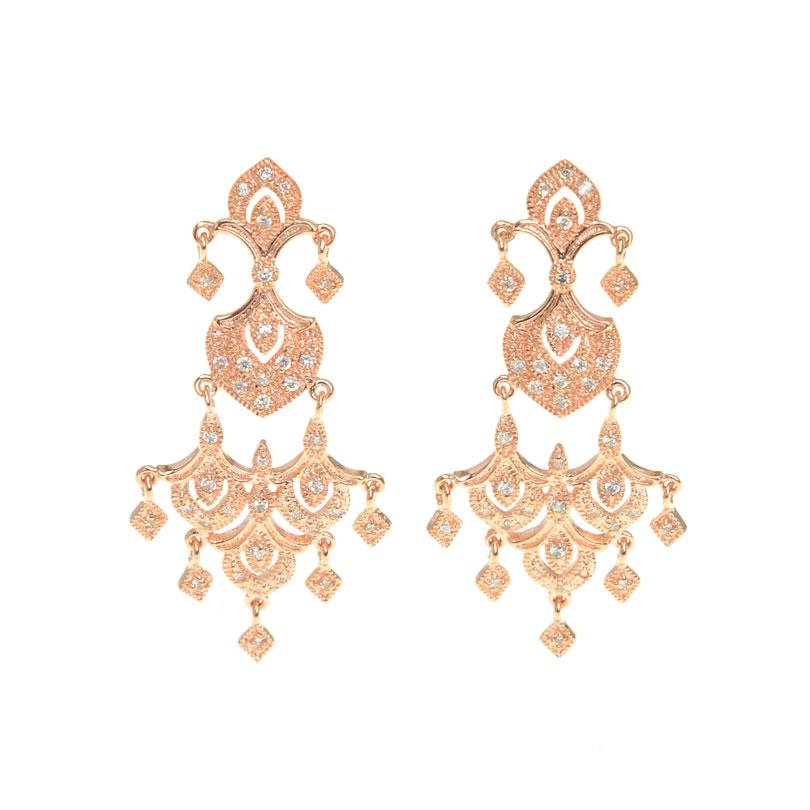 Bright Golden Dynasty Crystal Earrings