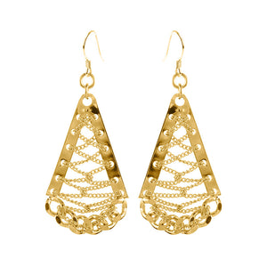 Chic Design Gold Plated Weave Earrings