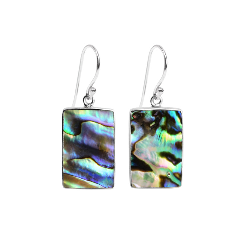 Shimmering Abalone Sterling Silver Earrings