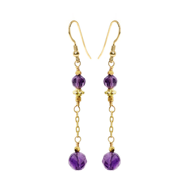 Amethyst Gold Filled Earrings
