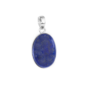 Rich, Royal Blue Lapis Sterling Silver Pendant