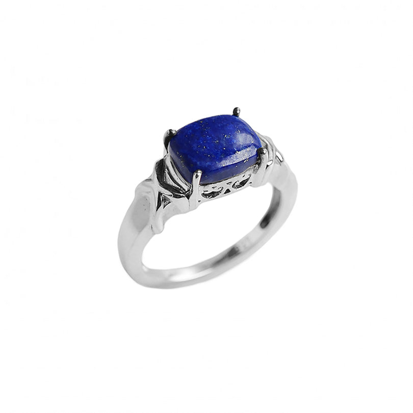 Lovely Small Lapis Sterling Silver Ring