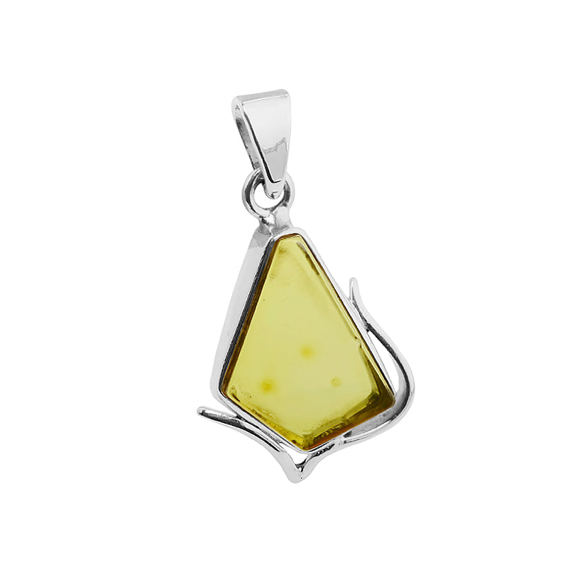 Pretty Baltic Amber Sterling Silver Pendant