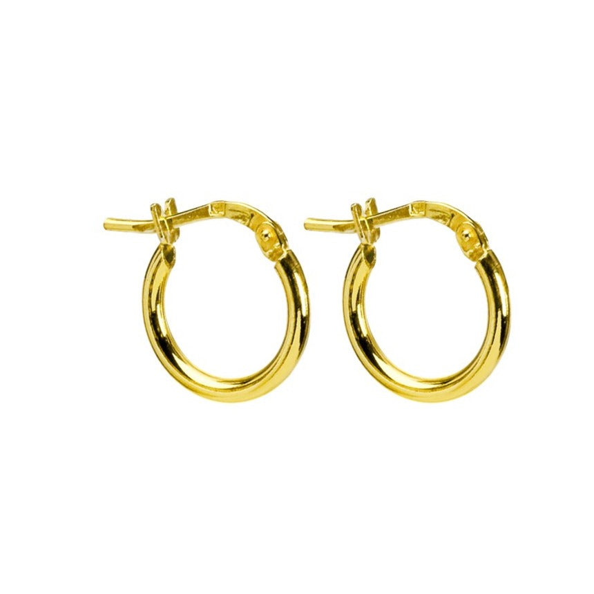 Italian 18kt Gold Plated petite Sterling Silver Hoop Earrings
