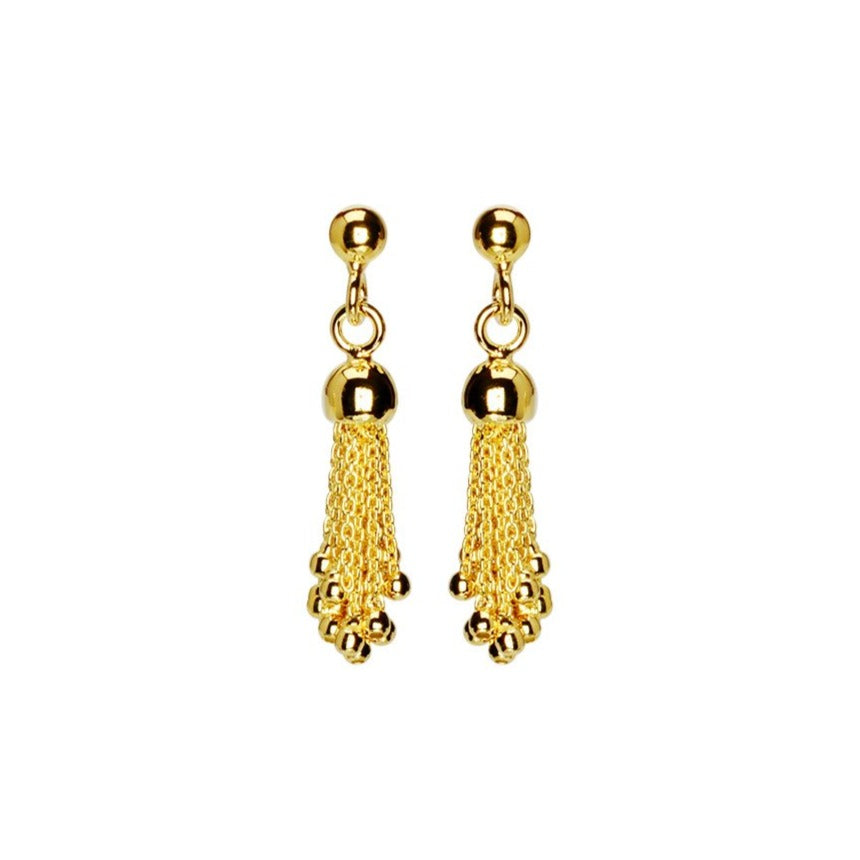 Italian Tassel 18kt Gold Plated Sterling Silver Earrings