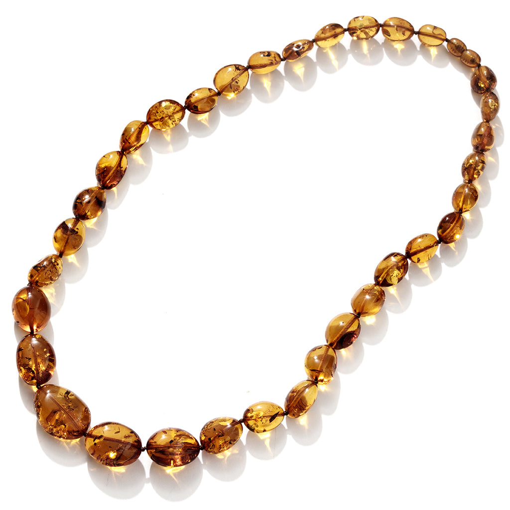 Sparkling Honey Cognac Baltic Amber Statement Necklace