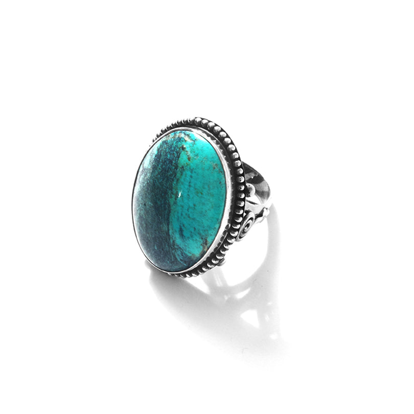 Stunning Large Genuine Turquoise Sterling Silver Statement Ring