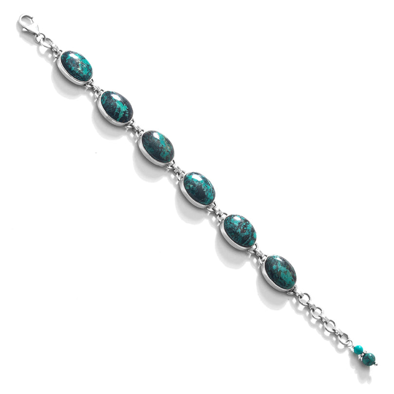 Gorgeous Genuine Turquoise Sterling Silver Statement Bracelet