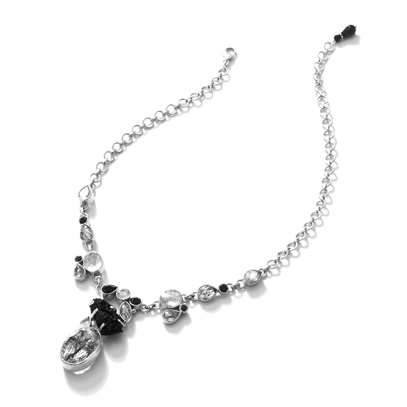 Fascinating Sterling Silver Statement Necklace