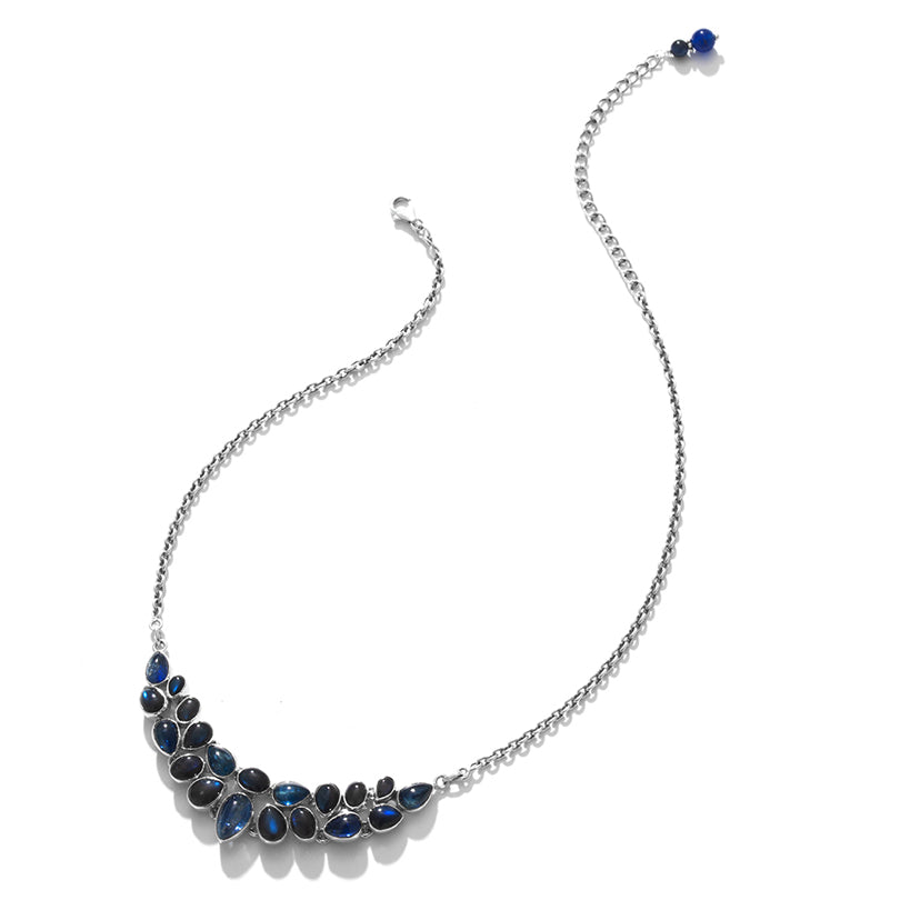 Gorgeous Shimmering Kyanite Sterling Silver Statement Necklace