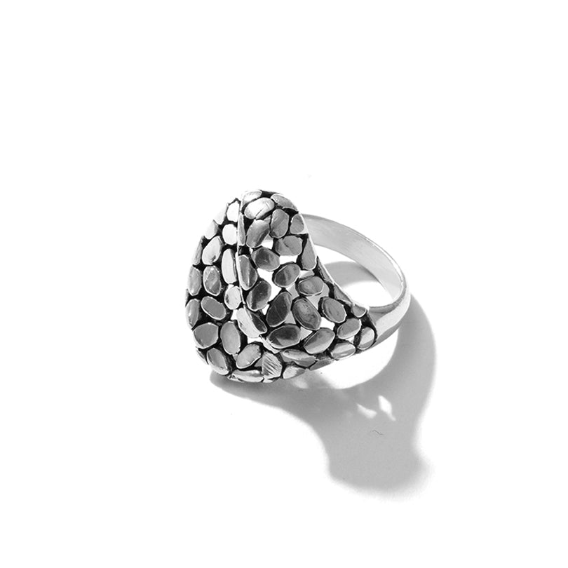 Silver Balinese Boulder Style Sterling Silver Ring