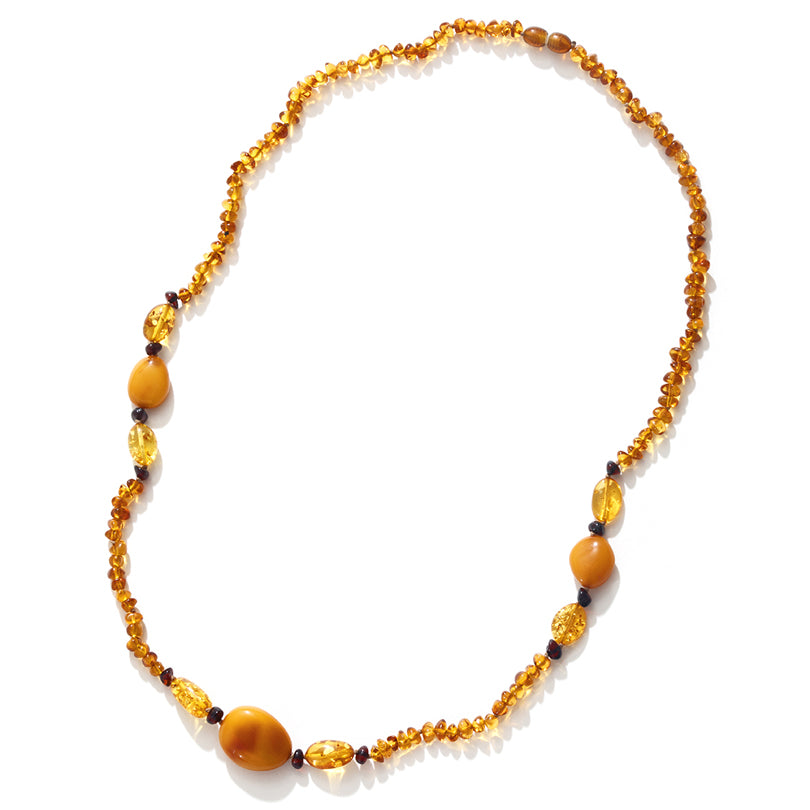 Beautiful Baltic Amber Long Necklace 28""