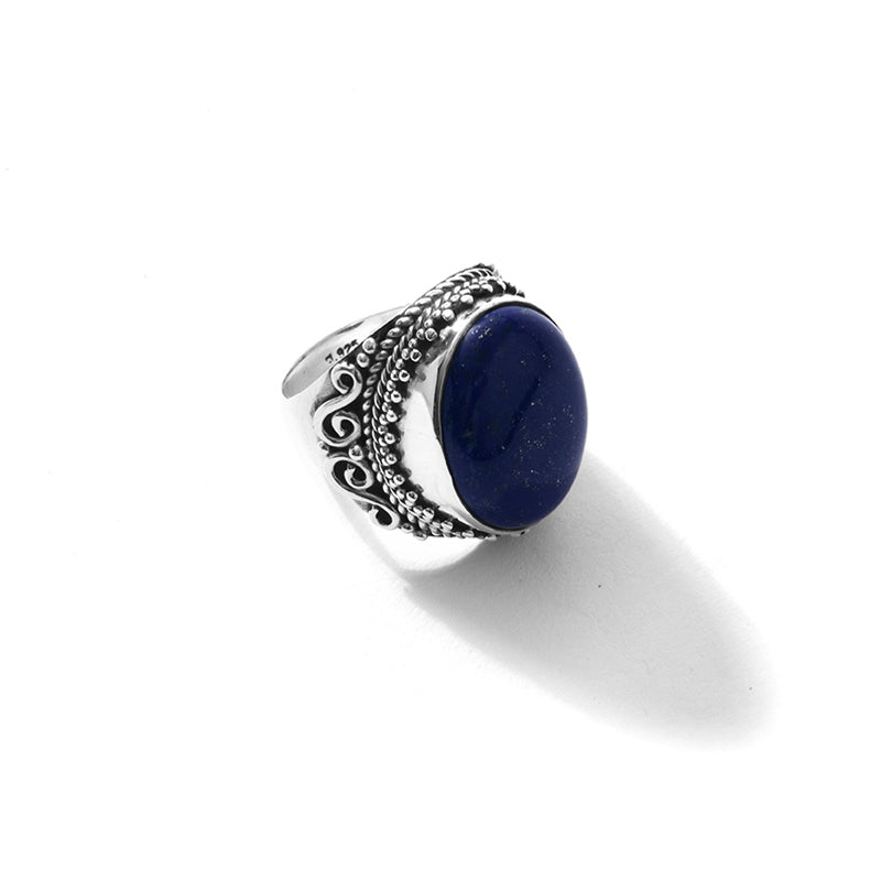Magnificent Lapis Sterling Silver Statement Ring