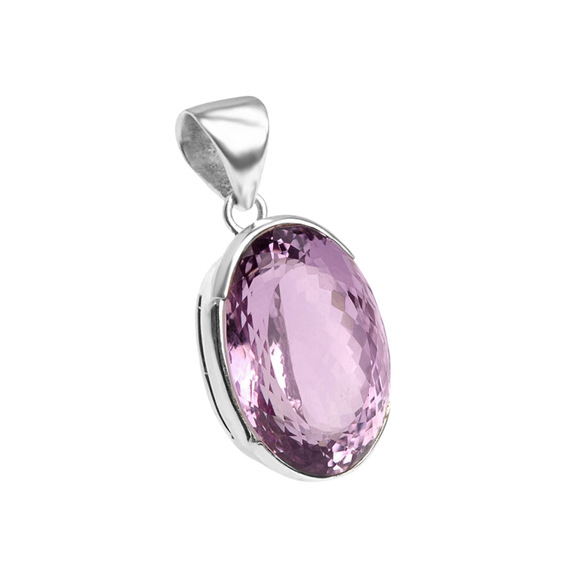 Beautifully Cut Brazilian Amethyst Stone Sterling Silver Pendant