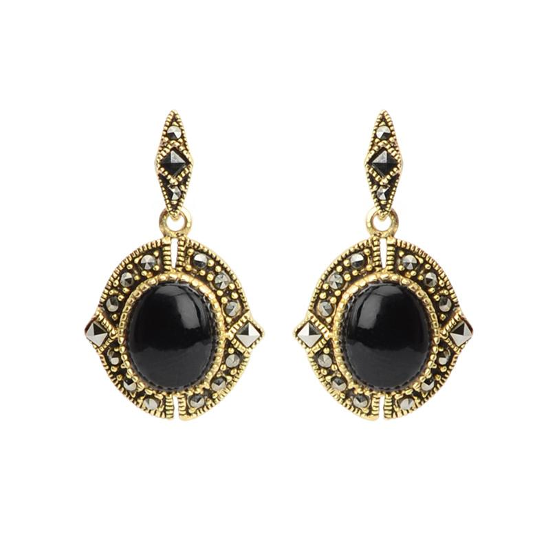 Gold Plated Marcasite Earrings