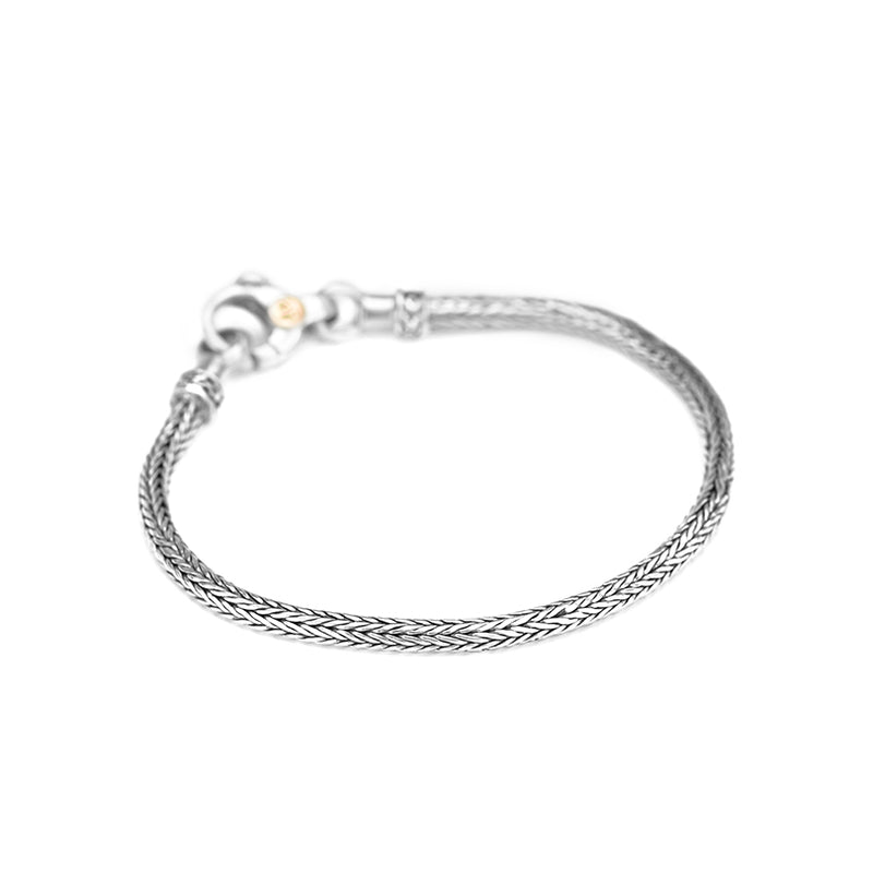 deGruchy Sterling Silver Bali Weave with Lobster Clasp Bracelet 3mm