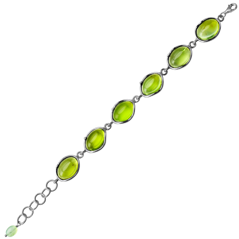Gorgeously Clear Caribbean Green Amber Sterling Silver Bracelet