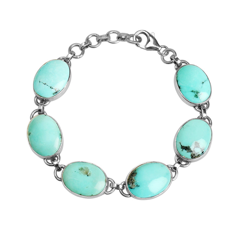 Beautiful South West Blue Turquoise Sterling Silver Bracelet