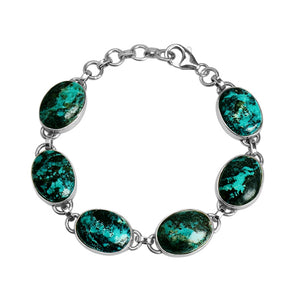 Rich, Natural Turquoise Sterling Silver Bracelet