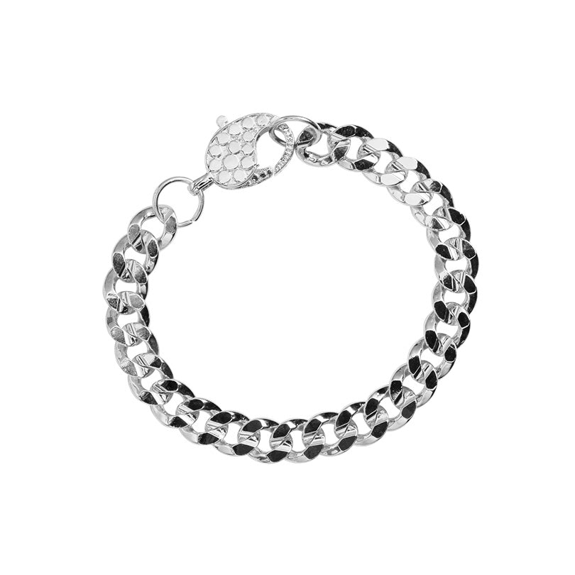 Classic Silver Plated Curb Link Chain Bracelet