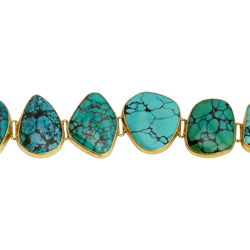Gorgeous Starborn Turquoise Gold Plated Bracelet