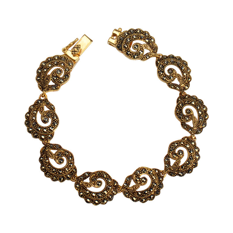 Regal Marcasite Victorian Majesty 14kt Gold Plated Bracelet