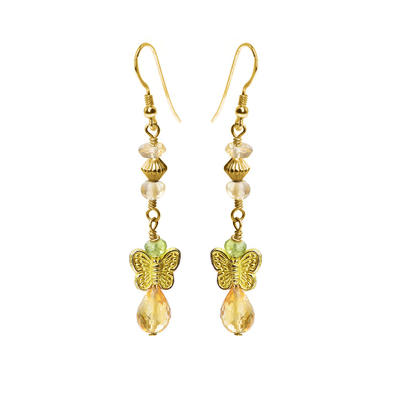 Adorable Petite Butterfly Earrings with Gold Filled Hooks