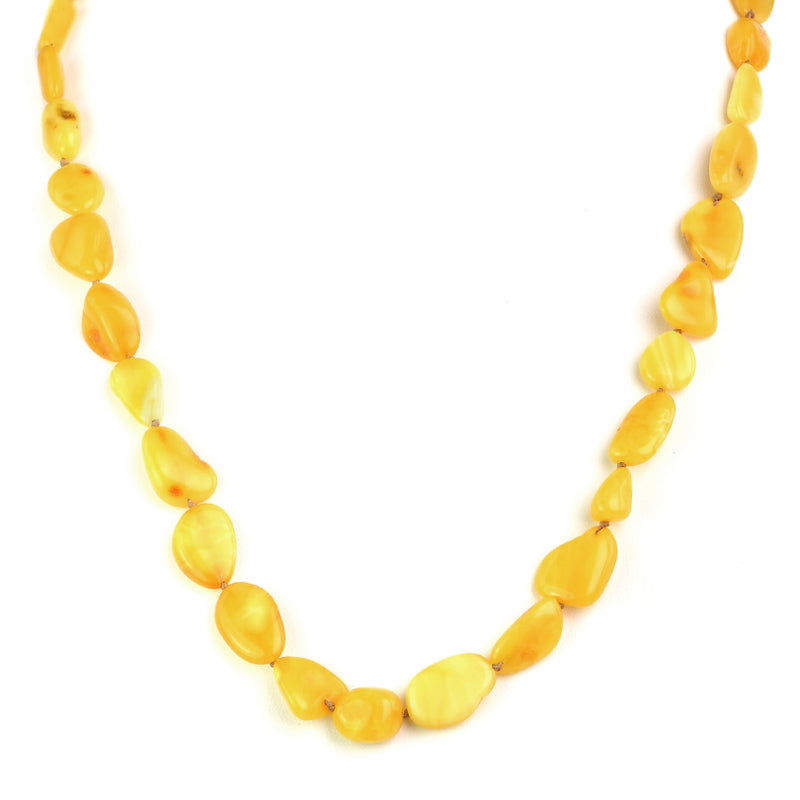 Gorgeous Natural Butterscotch Baltic Amber Beaded Necklace