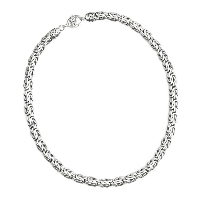 Sterling Silver 8mm Borobadur Chain with Lobster Clasp