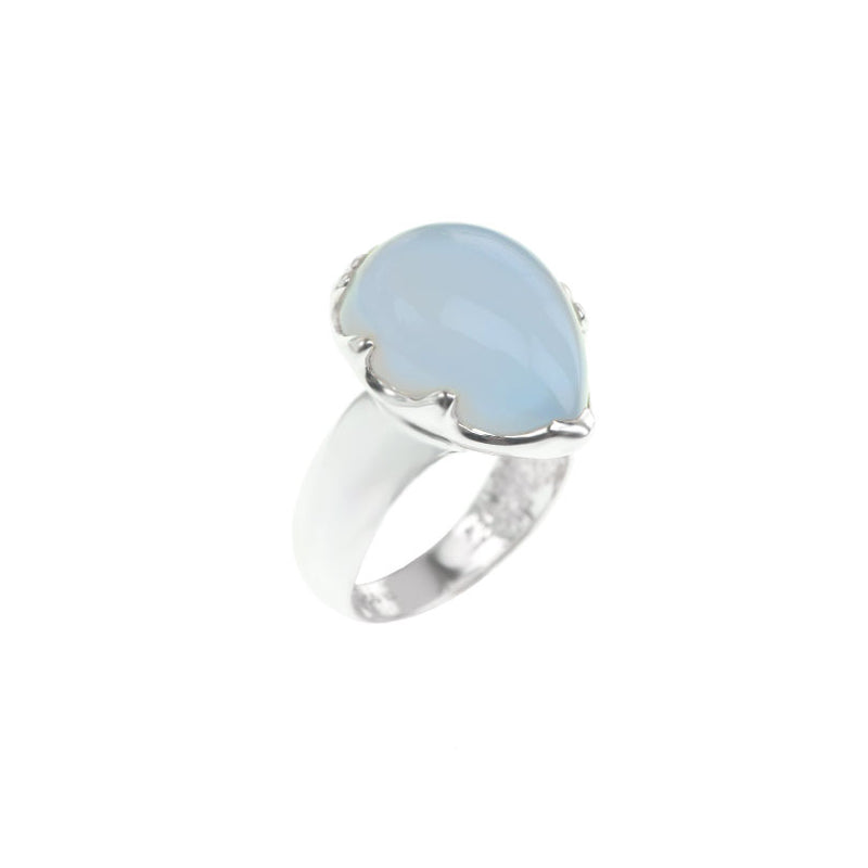 Gorgeous Natural Lavender Turkish Chalcedony Sterling Silver Ring