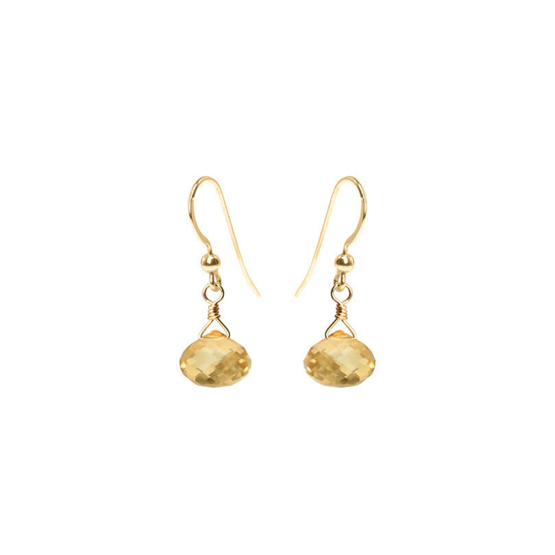 Faceted Citrine Gold Filled Earrings