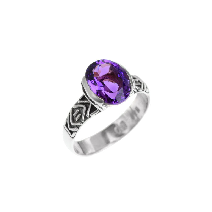 deGruchy Sterling Silver Amethyst Ring