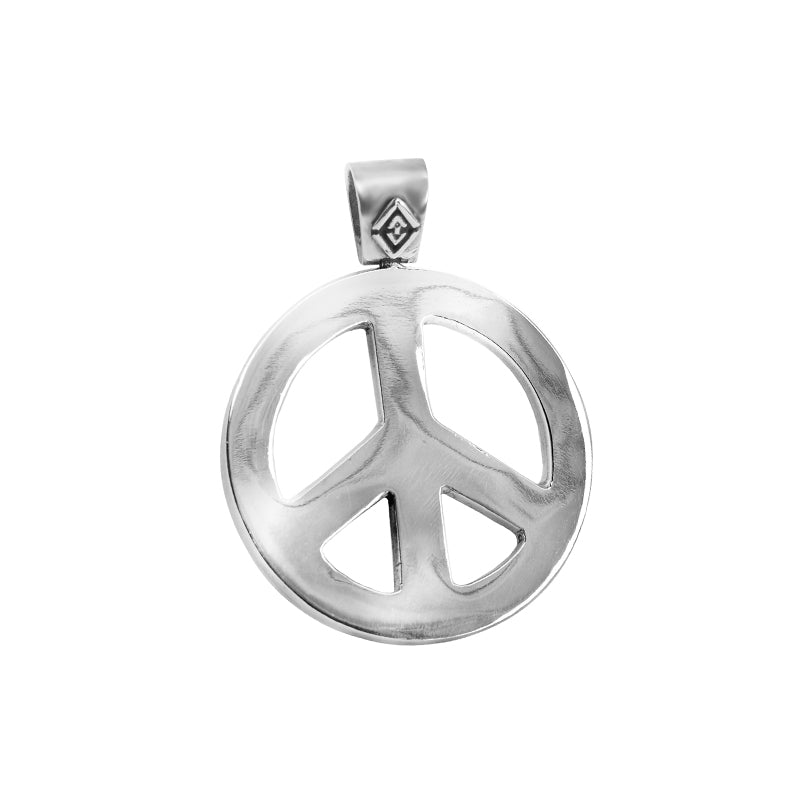deGruchy Stunning Peace Sign Sterling Silver Pendant